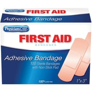 "First Aid Only® 1"" x 3"" Plastic Bandages, 100 Per Box (90097)"