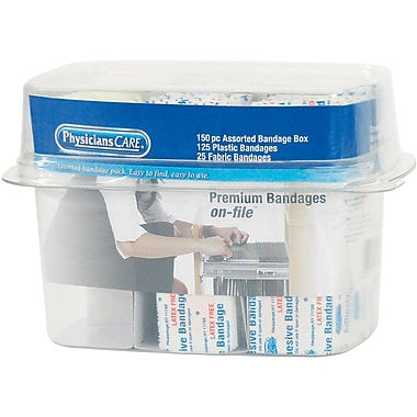 First Aid Only® First Aid Refill Assorted Bandages, 150 Pieces (90095)