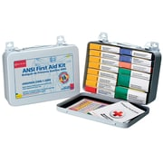 First Aid Only®  ANSI First Aid Kit, 16 Unit With Medications, 102 Pieces, Metal Case (241-AN)