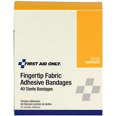 First Aid Only® Fingertip Bandage, Fabric, 40 Per box (G126)