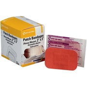 "First Aid Only® 2""x3"" Heavy Woven Fabric Patch Bandages, 25/Box (G160)"