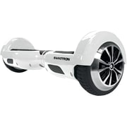 T1 White Scooter and Hoverboard