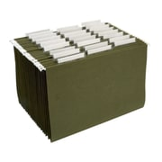 Staples® Hanging File Folders, 3-Tab, Legal, Standard Green, 25/Box (163352)