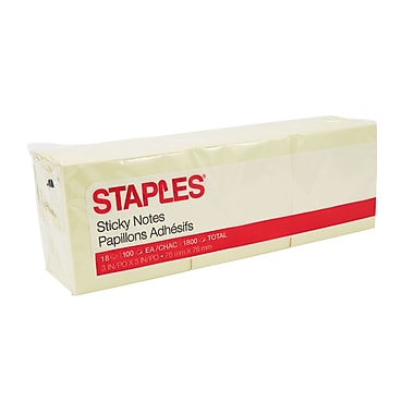 Staples® Stickies™ Recycled Notes, 3