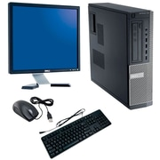 Refurbished Dell Optiplex 790 SFF Desktop BUNDLED with 19in LCD Monitor Intel Core i3 3.1Ghz 8GB RAM 1TB HDD Windows 10 Pro