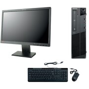 Refurbished Lenovo M91 SFF Desktop BUNDLED with 22in LCD Monitor Intel Core i5 3.1Ghz 8GB RAM 2TB HDD Windows 10 Pro