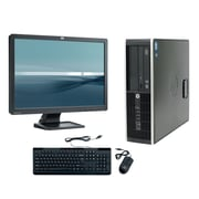 Refurbished HP Elite 8300 SFF Desktop BUNDLED with 22in LCD Monitor Intel Core i5 3.2Ghz 8GB RAM 2TB HDD Windows 10 Pro