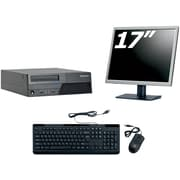 Refurbished Lenovo M58 SFF Desktop BUNDLED with 17in LCD Monitor Intel Core 2 Duo 3.0Ghz 4GB RAM 250GB HDD Windows 10 Home