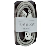 360 Electrical HabitatTM Braided Extension Cord (Modern)(8' - Tungsten)