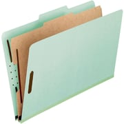 Pendaflex® Standard Classification Folders, Top Tab, 1 Partition, Light Green, Legal Size, 10/BX (17175EE)