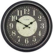 La Crosse Clock 404-2640 15.75 Inch Black Weathered Plastic Analog Wall Clock