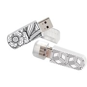 16Gb Mini USB Flash Drive - Coloring Book 2pk, Assorted