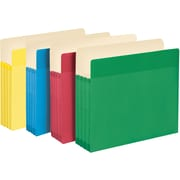 """Smead® Easy Grip® File Pocket, Straight-Cut Tab, 3-1/2"""" Expansion, Letter Size, Assorted Colors, 4 per Pack (73894)"""