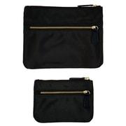 Office by Martha Stewart™, Double Zipper Pouches, Black, 2/Pack (50389)