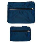 Office by Martha Stewart™, Double Zipper Pouches, Navy Blue, 2/Pack (50386)