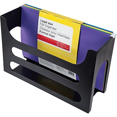 Hanging File Rack, Legal, Black