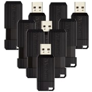 10PK 16GB PinStripe USB 2.0 Flash Drive - Black