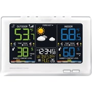 La Crosse Technology C87030 Multi-color Alarm clock with Forecast, White