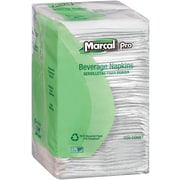 Marcal® PRO™ 100% Recycled Beverage Napkins, 1-Ply, White, 4000/Carton (28)