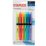Staples® Hype® Gripped Pen-Style Highlighters, Chisel, Assorted, 6/Pack(50372)
