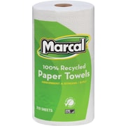 Marcal  Small Steps  100% Premium Recycled Mega Roll Paper Towel, 2-Ply, White, 12/Ctn