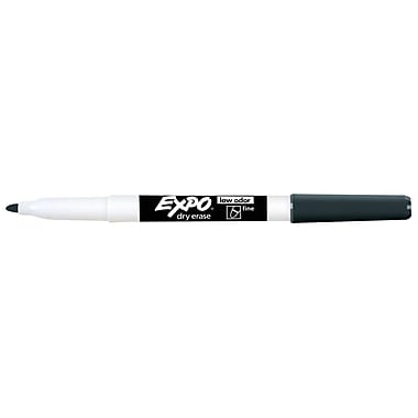 Expo® Low Odor Dry-Erase Markers, Fine Point, Black, 12/pk (SAN86001)