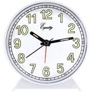 Equity by La Crosse 14076 Analog Quartz Alarm clock, white