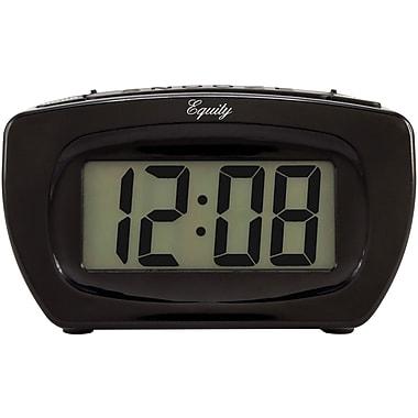 Equity by La Crosse 31015 Super Loud 4 In. LCD Black Alarm Clock