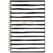 2017-2018 Ashley G for Blue Sky 5x8 Planner, Black Stripe (101402)