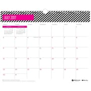 2017-2018 Ampersand for Blue Sky 15x12 Wall Calendar, Stripes (100783)