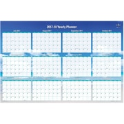 2017-2018 Blue Sky 36x24 Laminated Wall Planner, Endless Summer (102410)