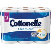 Kleenex® Cottonelle® Clean Care Bath Tissue, 1-Ply, 12 Rolls/Pack