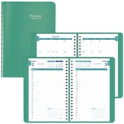 "2017-2018 Brownline® Academic Daily Appointment Book and Monthly Planner, 8"" x 5"", Emerald (CA201.EME)"