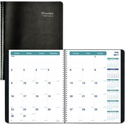 "2017-2018 Brownline® Academic Monthly Planner, 11"" x 8-1/2"", 14 Months,  Black (CA701.BLK)"