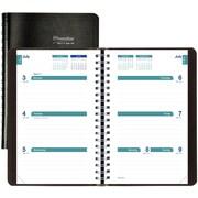 """2017-2018 Brownline® Academic Weekly Planner, 8"""" x 5"""", Black (CA101.BLK)"""