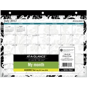 "2017-2018 AT-A-GLANCE® 11""x8 1/2"" Madrid Mini Academic Monthly Desk Pad,12 Months (SK93-706A-A7)"