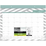 "2017-2018 AT-A-GLANCE® 22"" x 17"" Sprinkle Academic Monthly Desk Pad, 12 Months (D1024-704A-18)"