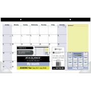 "2017-2018 AT-A-GLANCE® 17 3/4""x10 7/8"" QuickNotes® Academic Compact Monthly Desk Pad, 13 Months(SK726-00-18)"