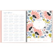 """2017-2018 AT-A-GLANCE®8 1/2""""x11""""Claire Academic Weekly/Monthly Planner, 12 Months, Floral(1014-905A-18)"""