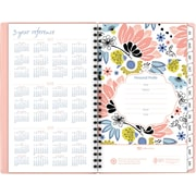 """2017-2018 AT-A-GLANCE®4 7/8""""x8""""Claire Academic Weekly/Monthly Planner, 12 Months, Floral(1014-200A-18)"""
