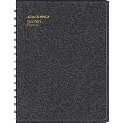 "2017-2018 AT-A-GLANCE® 8 1/4"" x 10 7/8"" Teacher's Planner, Undated, Black (80-155-05)"