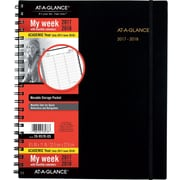 "2017-2018 AT-A-GLANCE® 8 7/8"" x 11"" Weekly/Monthly Academic Appointment Book/Planner, 12 Months, Black (70-957E-05-18)"