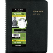 "2017-2018 AT-A-GLANCE® 6 7/8"" x 8 3/4"" Academic Monthly Planner, 18 Months, Black (70-127-05-18)"