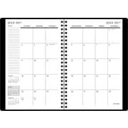 "2017-2018 Staples® 5 1/2"" x 8 1/2"" Small Academic Weekly/Monthly Planner, 14 Months, Black (23570-17)"