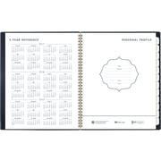 """2017-2018 AT-A-GLANCE® 8"""" x 11"""" Color Bar Academic Weekly/Monthly Planner, 12 Months, Navy (1067-905A-58-18)"""