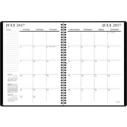 "2017-2018 Staples® 8"" x 11"" Large Academic Monthly Planner,14 Months, Black (23571-17)"