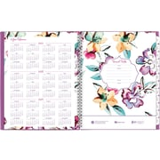 """2017-2018 AT-A-GLANCE®8 1/2""""x11""""June Academic Weekly/Monthly Planner, 12 Months, Floral(1012-905A-18)"""