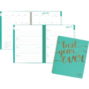 """2017-2018 AT-A-GLANCE® 8 1/2"""" x 11"""" Aspire Academic Weekly/Monthly Planner, 12 Months, Mint Blue (1022-905A-42-18)"""