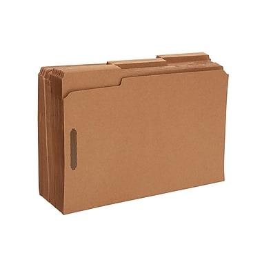 Staples Reinforced Fastener Folders, Legal, Kraft, 50/Box