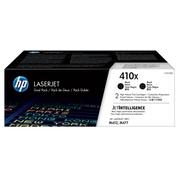 HP 410X Black Toner Cartridges (CF410XD), High Yield, 2/Pack
